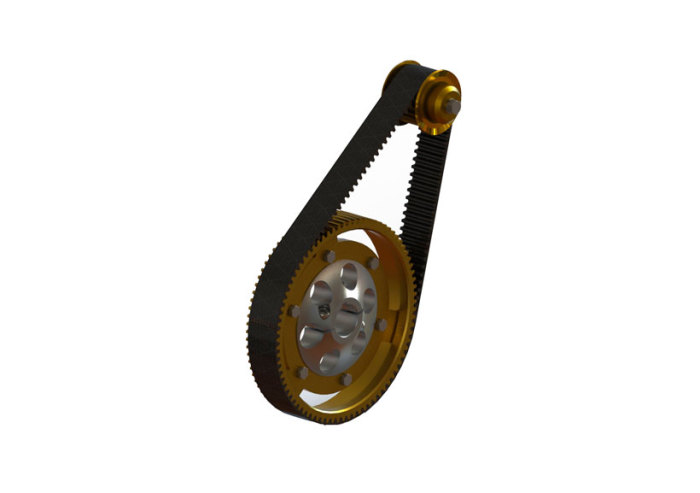 steel cog pulley synchronous drive belt system
